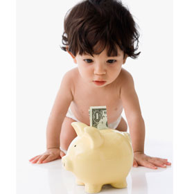 The cost of cloth diapers vs disposables