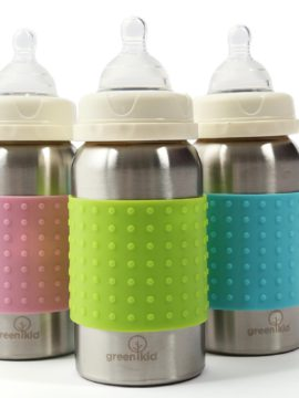 Green Kid Stainless Steel Baby Bottles