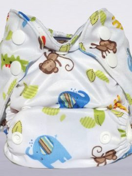 Bam+Boo Newborn All-in-One Cloth Nappy Animals Print