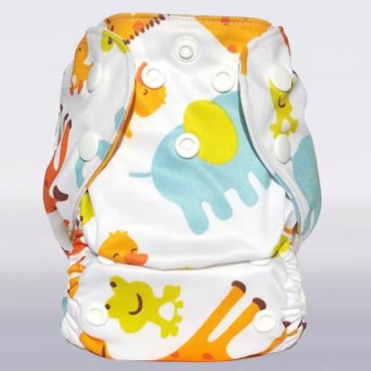 Bam+Boo Newborn All-in-One Cloth Nappy Duck Print