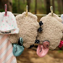 Bubs for Babes Baby Comforter Baa-Baa hanging around