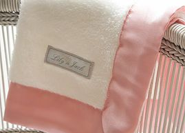 Lily 'n Jack Snuggle Blankie White and Pink